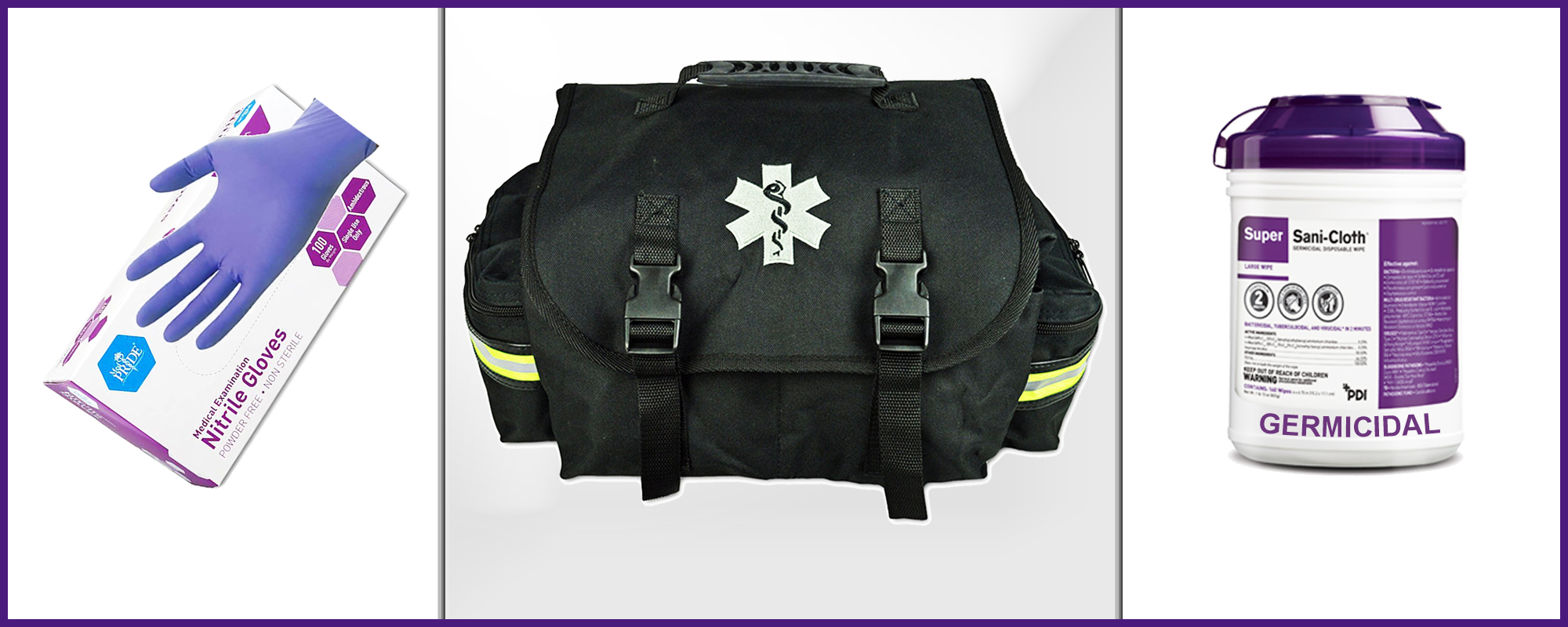 Williams Mobility keeps ample patient safety supplies on hand, including an EMT first responder kit.
