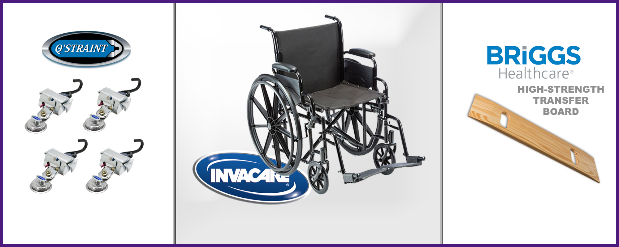 Williams Mobility uses only high-quality medical transportation equipment, including an Invacare wheelchair.